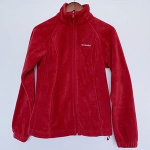 Columbia Beet Red Fleece Full Zipper Jacket